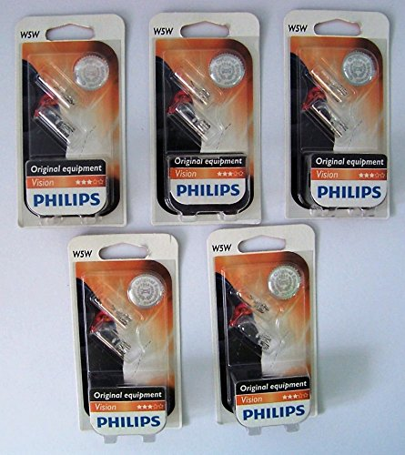 Preisvergleich Produktbild Philips 12961B2 Glassockellampe Vision W5W 5 x 2 Stück