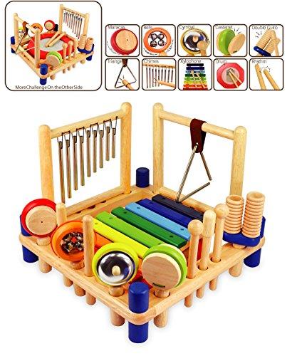Imagen principal de I'm Toy 22050 Xylophone Melody Mix - Set de percusión para niños: xilófono, tambor, triángulo, maracas, etc.