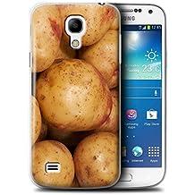 Carcasa/Funda STUFF4 dura para el Samsung Galaxy S4 Mini / serie: Comida - Patata