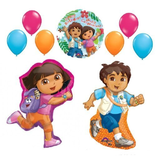 GO DIEGO BALLOONS SET party supplies HAPPY BIRTHDAY + latex by Lgp ()