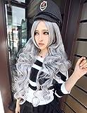 pelucas de la manière souhaitable et confortable Harajuku Perruque Argent perruque cosplay L'Anime en Europe Amérique vente commerce extérieur comme Pain Chaud...