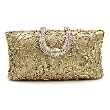 pwne L. In West Woman Fashion Luxus High-Grade Diamdons Abend Tasche Gold