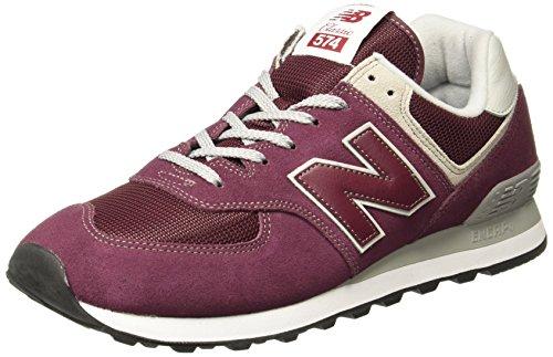 New balance 574v2 core, sneaker uomo, rosso (burgundy), 43 eu