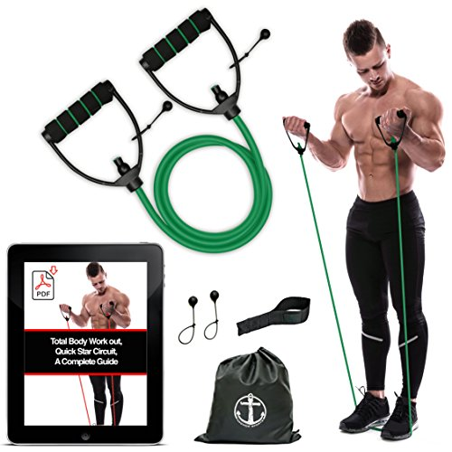 Anchor-Workout-Toning-Heavy-Fitness-Tube-Resistance-Bands-Cord-for-Exercise-Fitness-Pilates-Strength-Training-Yoga-Physio-Crossfit-with-Foam-Handles-Free-Door-Anchor-and-Carry-bag-A-Complete-Home-Gym-