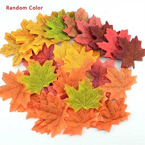 Meisijia Künstliche Pflanzen Ahorn Fall-Hochzeit Fotografie Blätter Herbst-Szene Layout Home-Party-Garten-Dekor-DIY -