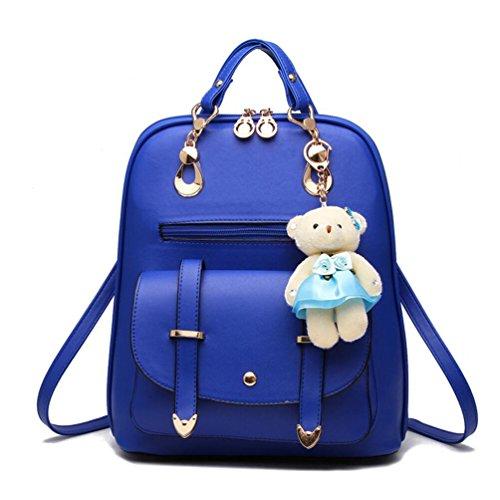 XibeiTrade ,  Mädchen Damen Rucksackhandtaschen Blau