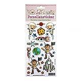 Porzellansticker, Porzellandekor, Astronaut, klebt auf Porzellan, Fliesen, Glas, glatten Oberflächen