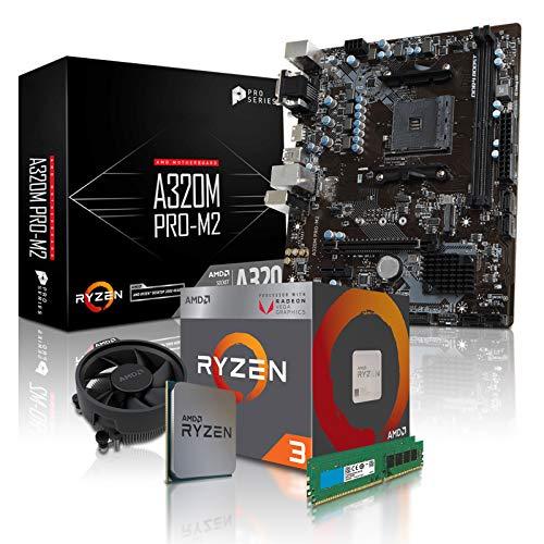 dercomputerladen PC Aufrüstkit AMD 3-2200G 4x3.5 GHz - 16GB DDR4, AMD Vega 8-2GB, Mainboard Bundle, Tuning Kit, für Spiele und Office geeignet