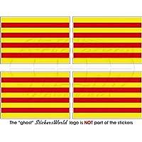 Pegatina de vinilo de la bandera de Cataluña, España, 2 unidades, 50mm