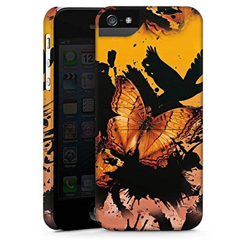 Apple iPhone X Silikon Hülle Case Schutzhülle Schmetterling Grunge Kunst Premium Case StandUp