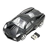 Drahtlose maus sportwagen geformte 2.4Ghz optische maus 1000DPI für PC laptop computer schwarz