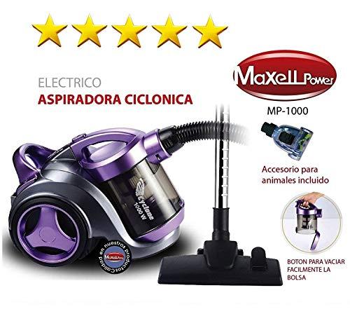 MAXELLPOWER Aspirador aspiradora ciclónico sin Bolsa Filtro hepa Boquilla Animales Incluido...