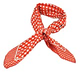 Style européen d'impression Points blanc petit Carré foulard Rouge