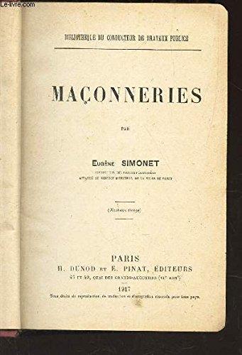 MACONNERIE / BIBLIOTHEQUE DU CONDUCTEUR DE TRAVAUX PUBLICS. par SIMONET EUGENE