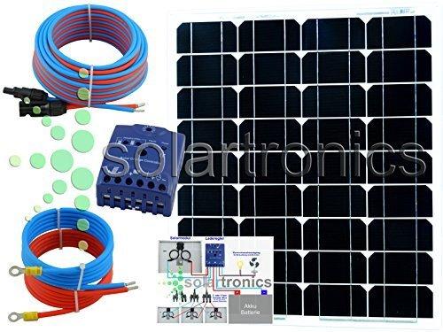 50 Watt 12Volt Solar Set Solaranlage Inselanlage Garten Camping Solarmodul