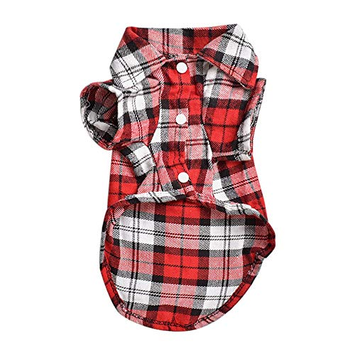 Fliyeong Haustier-Kariertes Hemd-Mantel-Hundewelpen-T-Shirt übersteigt das praktische und populäre Kleid -