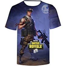 SERAPHY 2018 Newly Arrival Unisex Camiseta 3D Print Fortnite Battle Royale Camiseta para Hombre/Mujer 5825K2jNO