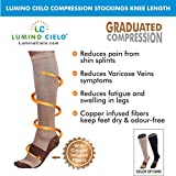 Best Vein Support - Lumino Cielo Compression Stockings Knee Length For Varicose Review