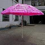 Parasol 2.8m Paglia Artificiale Giardino Ombrello Impermeabile Anti-UV Ombrello da Mercato Ombrello A Banana Ombrello da Esterno LDFZ