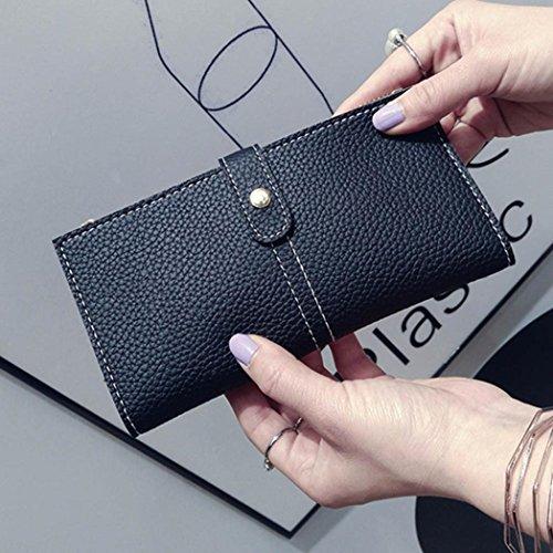 Portafoglio Donna, Tpulling Donna uso quotidiano delle frizioni borsa portafogli borsa della borsa della frizione di qualità (Black) Black