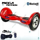 Mega Motion Monopatín Eléctrico 10 Pulgadas Auto-Equilibrio Scooter Monopatín Eléctrico-UL Certificado 2272-Altavoz y Bluetooth-LED-700W Modelo Z6