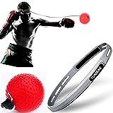 Balle de frappe réflexe de boxe pour améliorer vitesse et réactions - Equipement de frappe pour boxe, MMA et autres sports de combat - Entraînement et fitness révolutionnaires, Red-for Veterans