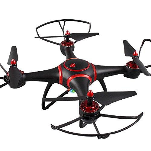 Anyutai Quadcopter Led Light Drone Aerea, 2.4Ghz 480P Drone Performance Giocattolo Regalo Di Natale -> Nero