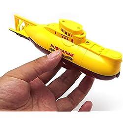 eMart Mini RC Juguete Eléctrico del Barco de Control Remoto del Barco Submarino Impermeable del Salto de Agua de Regalo Para Niños - Amarillo