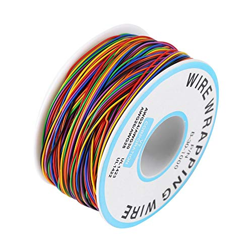 280M Isolierungs Test Verzinnte Kupfer Solid Kabel Wrapping Kabel P/N B-30-1000 30AWG mit Lötkolben Schwamm Kabel 0,6mm2 8-Adriger farbiger Elektronischer Test Kabel