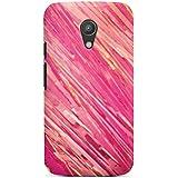 Motorola Moto G2 Hülle Premium Case Cover Aquarell Kratzer Pink