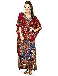 fe11ef17eb3 New Ladies Oversized Maxi Kimono Kaftan Tunic Kaftan Dress Free Size