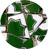 Mosaik Fliesen-Scherben, Bruchmosaik 20-50mm, 1Kg zellige Safi Grün, BZL4