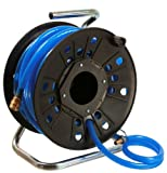 as - Schwabe 12622 Druckluft-Schlauch-Trommel DKV60, 20m robuster Druckluftschlauch mit Aufroller, 9 x 3 mm mit Anschlüssen
