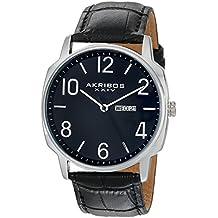Akribos XXIV Amazon-Exclusive Hombre Reloj Negro de Cuarzo japonés