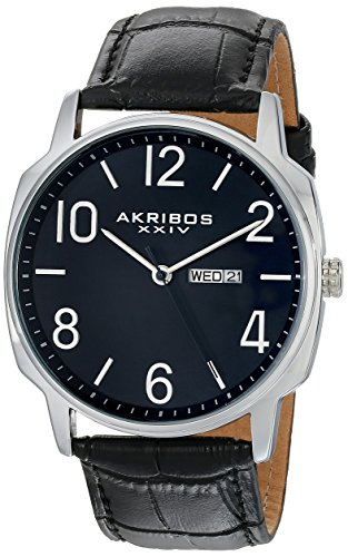 Akribos XXIV Amazon-Exclusive Men's AK801BU Japanese Quartz Black Watch