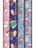 Best Kids Birthday Gifts - 4 x Rolls Of Kids Birthday Gift Wrapping Review
