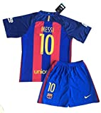 FC Barcelona 2015–2016 Messi # 10 Jugendliche Home Shirt & Shorts Set Age 11-13 years