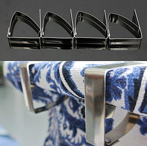 4/Set Edelstahl Tischdecke Tisch Cover Clips Halterung Klemmen Party Picknick ^ -