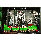 Weihnachten Fensterbilder Weihnachtssticker, Schneeflocken Fenstersticker Fensterdeko Wanddeko Weihnachtsdeko Wandaufkleber Wandtattoo Wandsticker Weihnachten Rentier Aufkleber