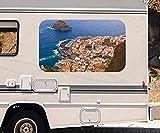 3D Autoaufkleber Meer Teneriffa Spanien Wasser Wohnmobil Auto KFZ Fenster Motorhaube Sticker Aufkleber 21A377, Größe 3D sticker:ca. 45cmx27cm