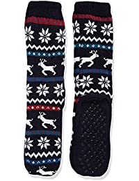 RJM Mens Reindeer Fairisle Slipper Socks 7-11