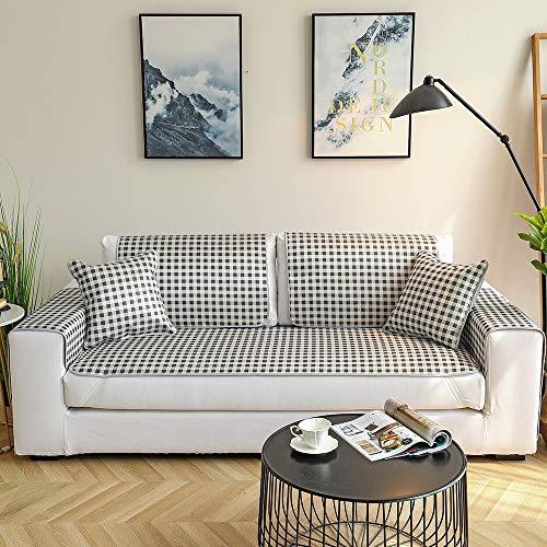 QIN Couchbezug, Einfache Gittersofabezug Ice Silk Summer Cool Pad Schnitt Anti-Rutsch-Sofa Schonbezug für Hunde Katzen Pet Love Seat Multi-Size,B,80 * 80cm