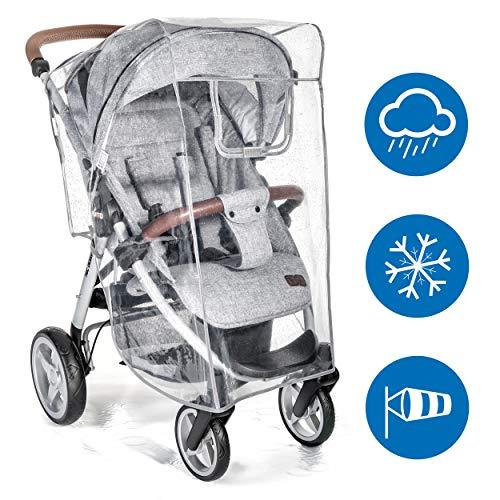 Zamboo Universal Regenschutz für Buggy und Sportwagen - Regenverdeck mit Fenster, hochklappbar für einfachen Ein- und Ausstieg - passend für jeden Kinderwagen