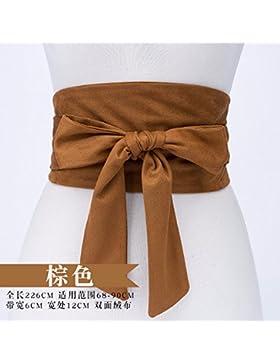 Nueva correa anudada femenina de la correa de la moda adornó la correa de las señoras del ante con la correa de...