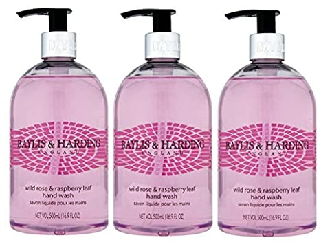(3 PACK) Baylis & Harding WILD ROSE & RASPBERRY Hand Wash x 500ml **Despatched within Double Wall