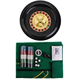MagiDeal 5 en 1 Conjunto de Juegos Casino Fichas Póquer Baraja de Cartas Naipes Dados Reunión Fiesta Regalo Diversión