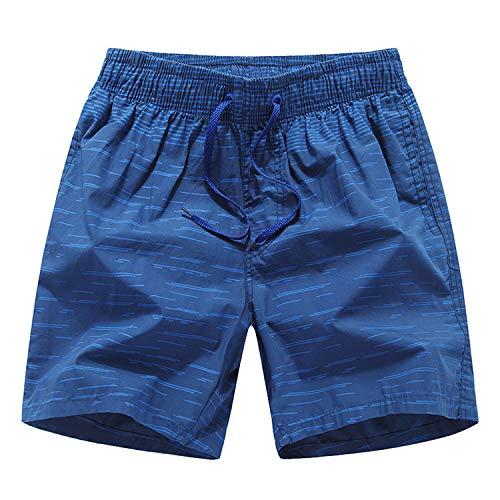 BBQBQ Training Shorts Fitness Kurze Hose Jogging Hose weich und bequem Ideale Männer Kurze Hose für Freizeit,Schnelltrocknende Bedruckte Strandhose aus Baumwolle 2 XXL (Training-spiele Wii Für)