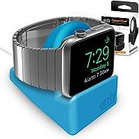 Orzly® Night-Stand for Apple Watch - BLU Supporto con Scanalatura per nascondere il vostro cavo di carico (Grommet caricatore e cavo non incluso)