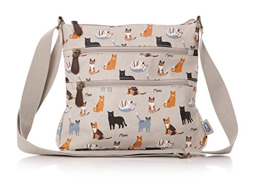 beautiful-rspca-kitty-cat-and-friends-matte-oilcloth-ladies-messenger-fashion-bag-handbag