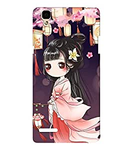 EPICCASE cute chinese Mobile Back Case Cover For Oppo F1 (Designer Case)